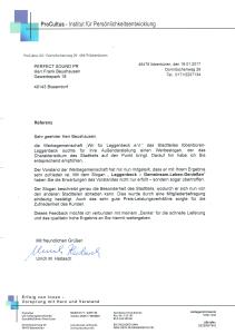 Referenz der Werbegemeinschaft Laggenbeck