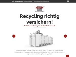 Versicherungen für Recyclinbetriebe bei MBW