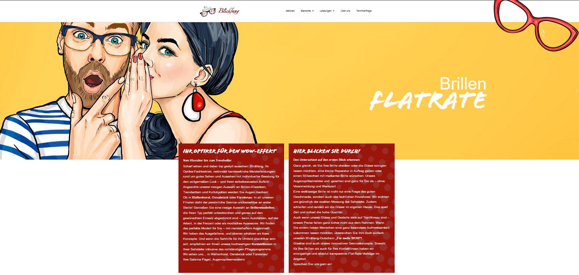Webseitentext: Willkommen bei Blickfang