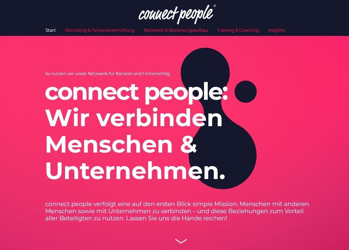 connect people - Diese Website bringt Menschen zusammen