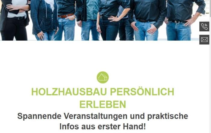 Hausbau Heggemann Webseite Events